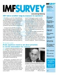 Cover IMF Survey