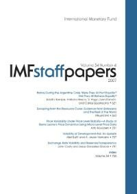 Cover IMF Staff Papers